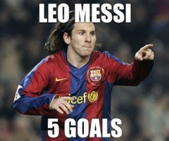 messi 5 goal video